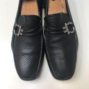 SALVATORE FERRAGAMO driving shoes sz 8.5 ee